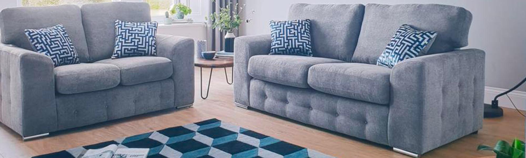 Fabric 3 Seater Sofas